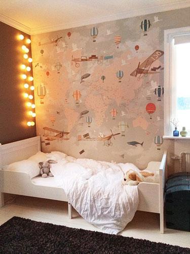 интерьер детской комнаты в бежевом цвете 17