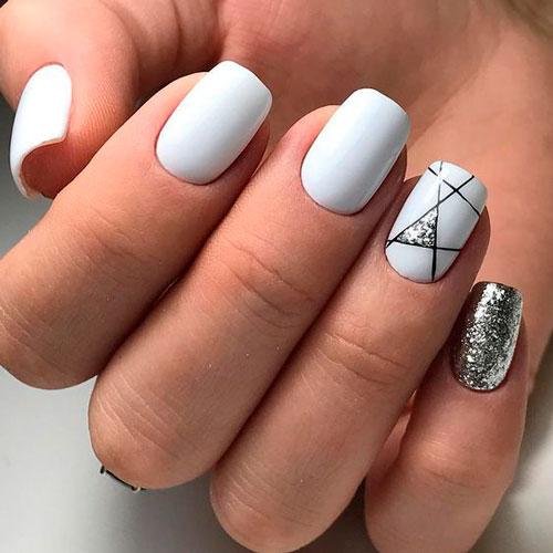фото дизайна ногтей в белом цвете 3