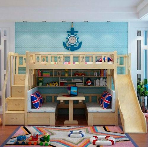 бежевая комната в морском стиле