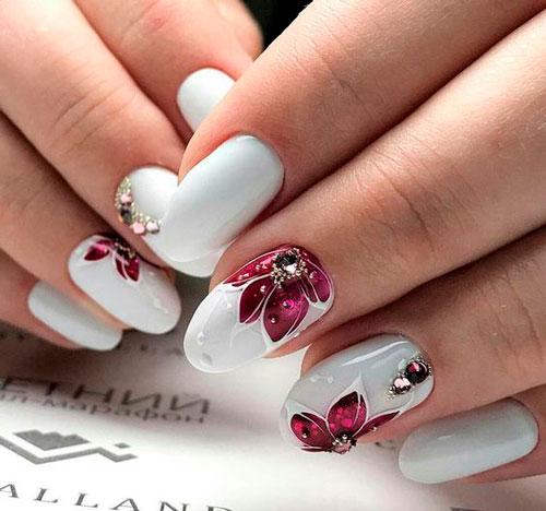 фото дизайна ногтей в белом цвете 2