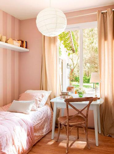 интерьер детской комнаты в бежевом цвете 12