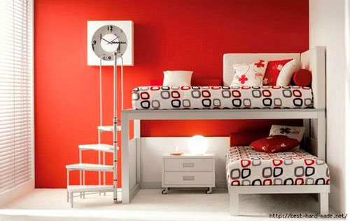 расположение мебели в комнате ребенка 10