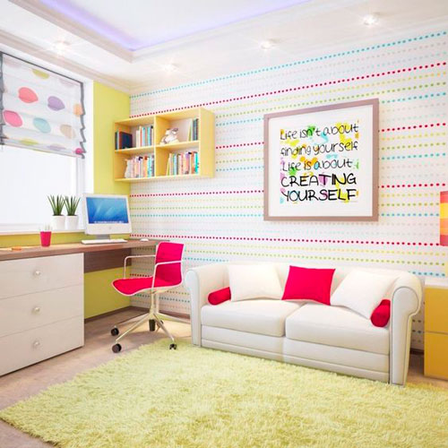 бежевая комната для детей 9