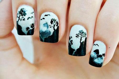 дизайн ногтей в чено белом цвете