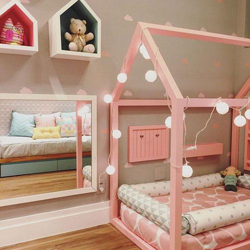 бежевая комната для детей 8