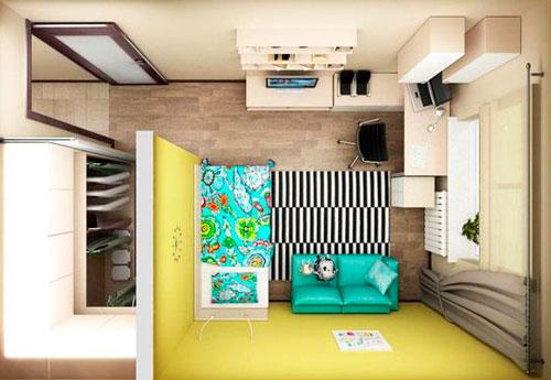план расположения мебели в детской