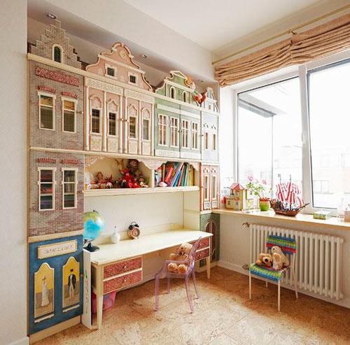 бежевая комната для детей 6