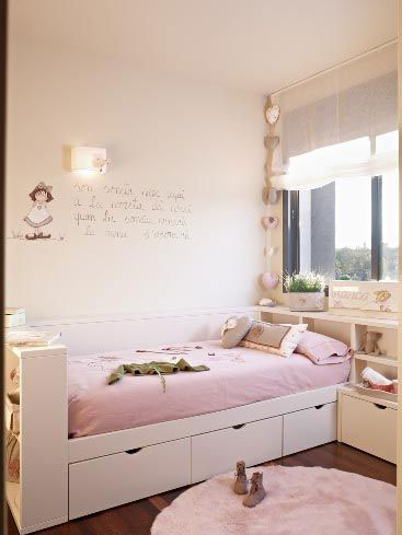 бежевая комната для детей 7