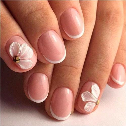 френч маникюр: дизайн для коротких ногтей