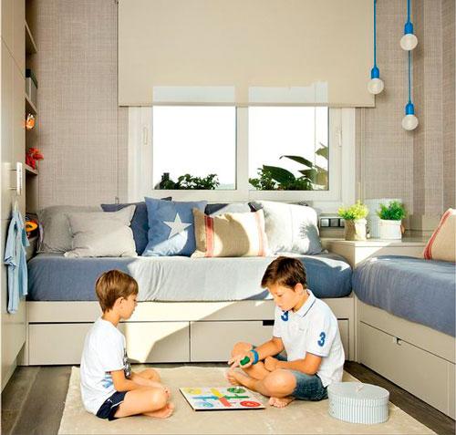 план расположения мебели в детской 6