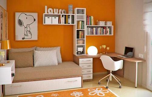 контрастные цвета в бежевой комнате для детей 3
