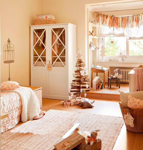 интерьер детской комнаты в бежевом цвете 7