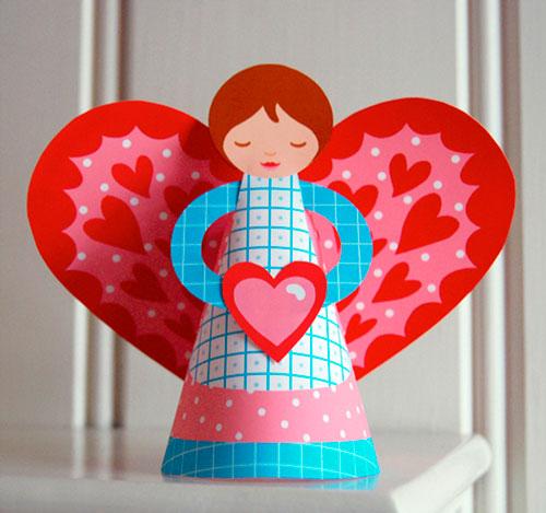 поделка на день святого Валентина для девочек
