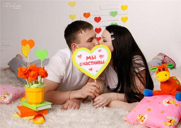 Фото на день святого Валентина в студии
