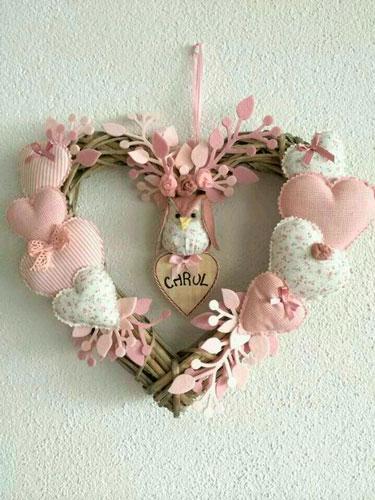 поделка венок на день святого Валентина