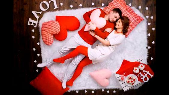 валентинки и сердечка на фотоссесии на день влюбленных