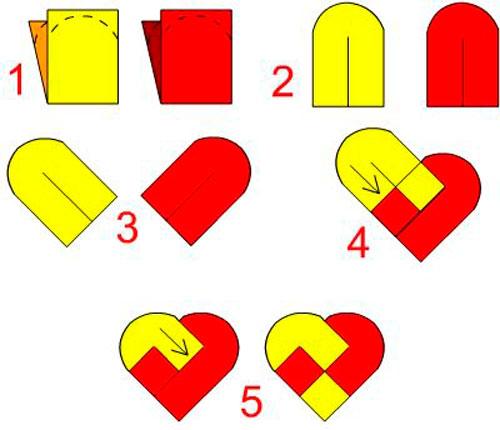 валентинка кармашек схема для детей