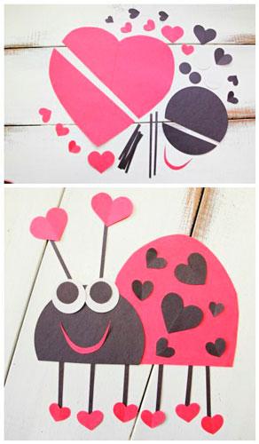 Детские поделки на день святого Валентина 11