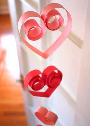 Поделка гирлянда на День Святого Валентина 4