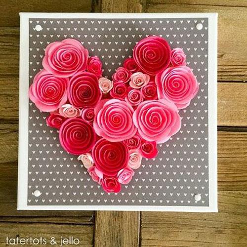 Поделки на день Святого Валентина: сердце из роз