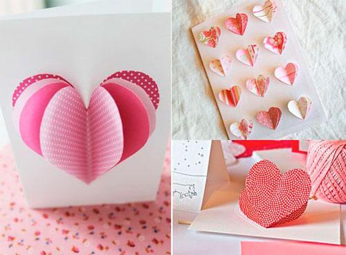 Поделки на день Святого Валентина: объемное сердце