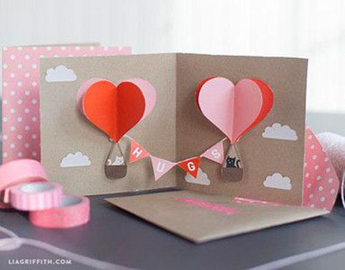 валентинка с воздушными шарами на 14 февраля 2
