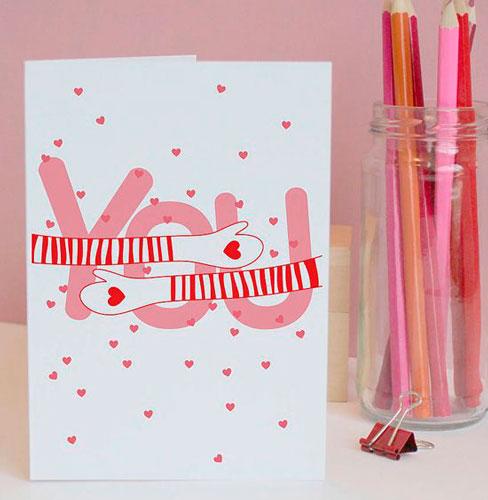 валентинка с воздушными шарами на 14 февраля 3