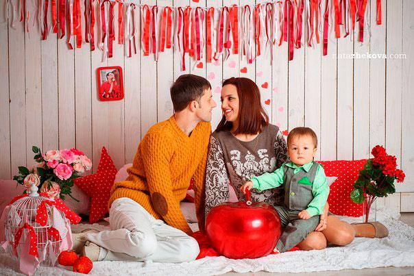 семейная фотоссесия на день святого Валентина