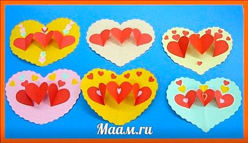 Детские поделки на день святого Валентина