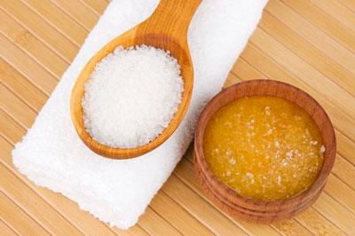 скраб для лица с медом и сахаром