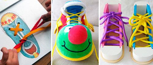 в каком возрасте учить ребенка завязывать шнурки
