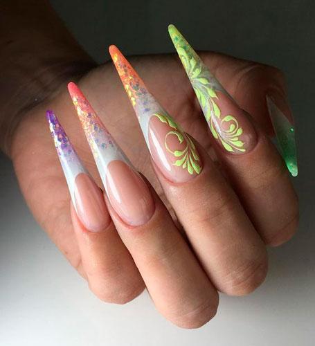 длинные острые ногти