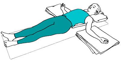 Йога после родов: поза расслабление