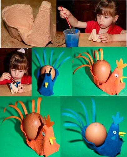 Подставка под яйца из бумаги вместе с детьми