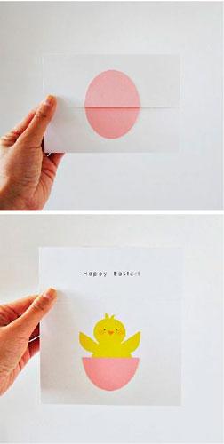 Интересная идея для изготовления открытки на Пасху