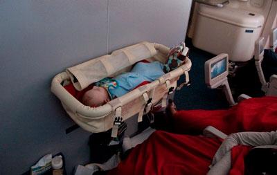 люлька для перелета на самолете с малышом