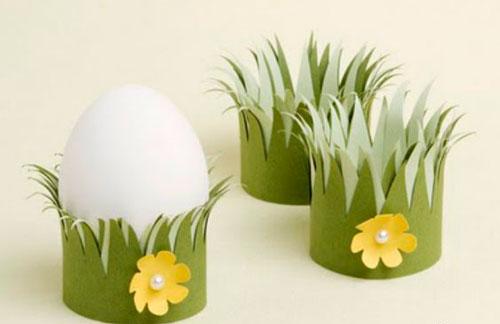 Подставка под яйца из бумаги вместе с детьми 2