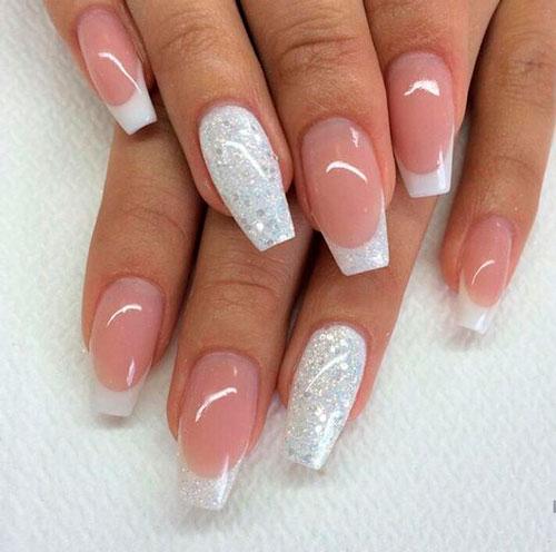 свадебный дизайн ногтей формы балерина