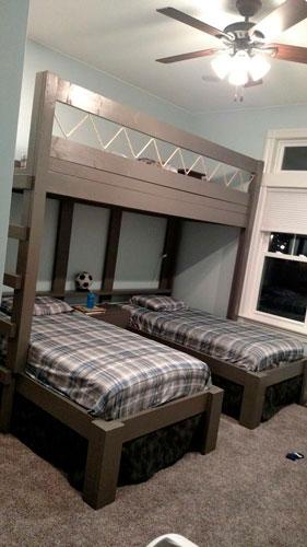 как организовать спальню для трех детей