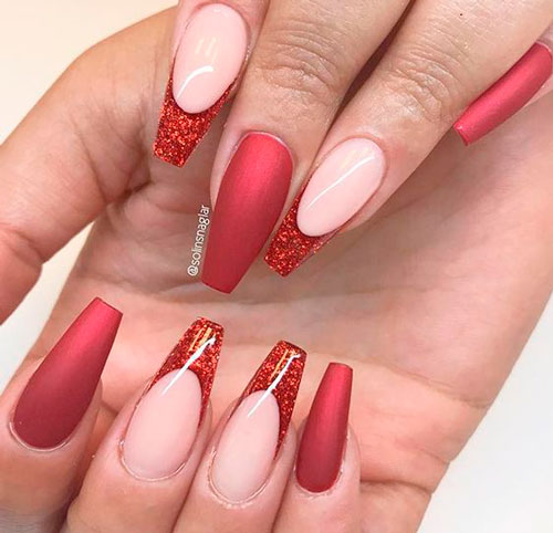 балетные ногти с красивым дизайном