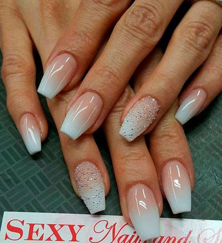 красивые ногти формы балерина