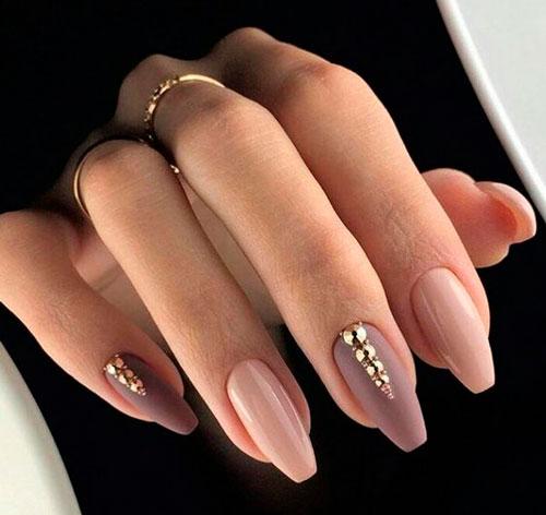 нежные ногти балерина с фото