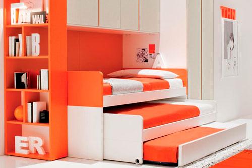 как расположить кровати для трех детей в детской комнате