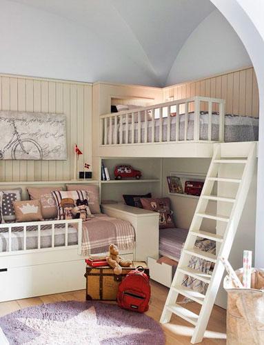 фото детской комнаты для троих детей