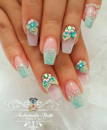 нежный дизайн ногтей балерина с фото