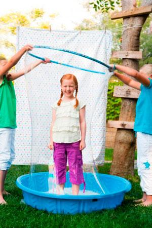 рецепты домашних мыльных пузырей для детей