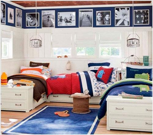 фото расположения кроватей в детской для трех детей 2