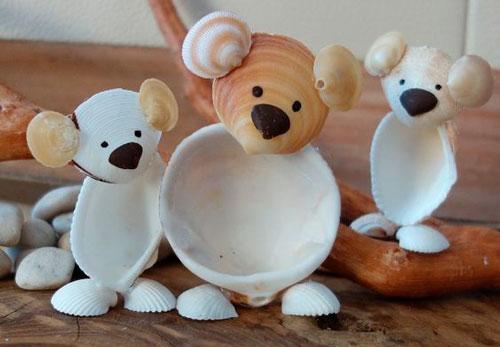поделки медведи из ракушек своими руками