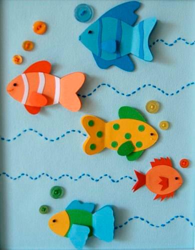 рыбки поделка из бумаги
