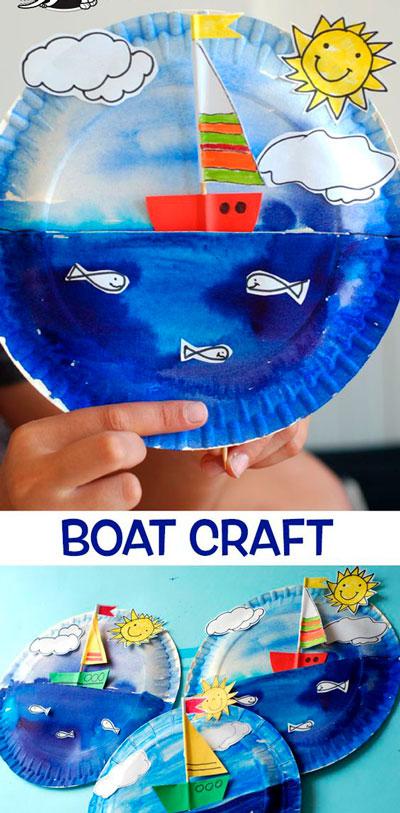 поделка на морскую тему для детей из бумажных тарелок